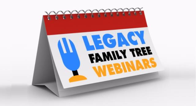 Save 15% on Legacy Family Tree Webinars annual subscription with promo code THOMAS15