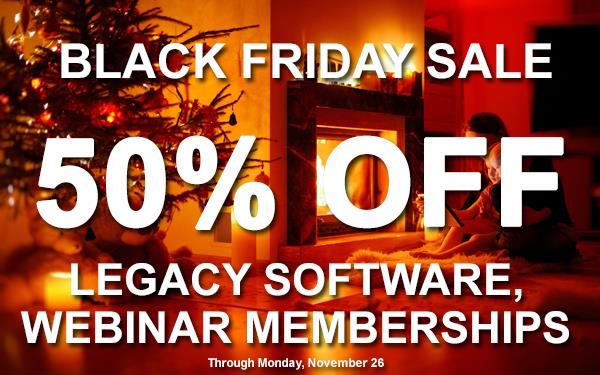 Once A Year Savings! Get Legacy Family Tree Webinars Subscription - INCLUDING RENEWALS - and Save 50% - get the details at Genealogy Bargains!