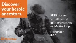 DId you miss the recent FREE ACCESS offers of genealogy records? MyHeritage has EXTENDED access to over 47 MILLION records to Friday, November 16th!