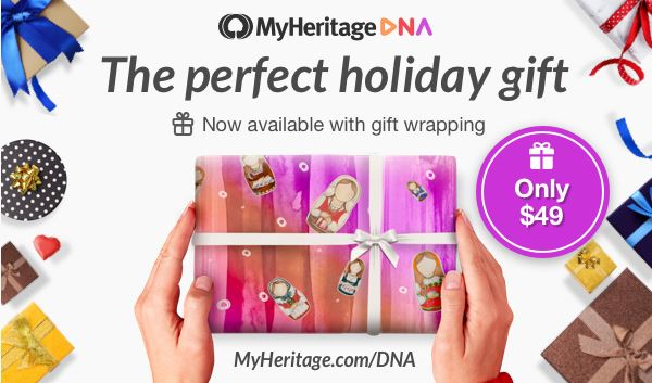 MyHeritage DNA kits make the perfect gift for everyone on your list. Hurry up and order now before the sale ends!