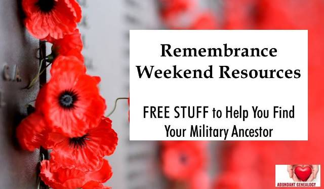 Genealogy author and educator Thomas MacEntee has compiled the ULTIMATE list of FREE RESOURCES for finding your World War I ancestors during Remembrance Weekend