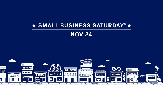 Today, November 24th is Small Business Saturday -Small Business Saturday is a day dedicated to supporting small businesses and communities across the country. Founded by American Express in 2010, this day is celebrated each year on the Saturday after Thanksgiving and U.S. consumers have reported spending an estimated $85 Billion+* at independent retailers and restaurants over these eight days alone.