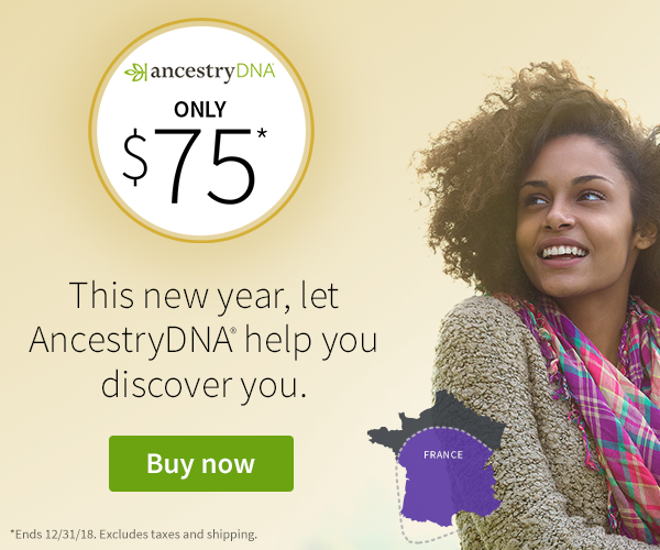 AncestryDNA US: After Christmas Sale at AncestryDNA Get the world's most popular DNA test kit - AncestryDNA - for just $75 USD! Sale valid through Monday, December 31st