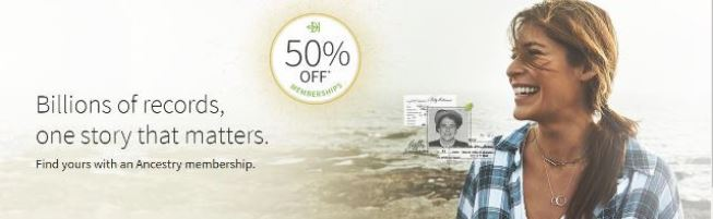 Are you ready to take your AncestryDNA results to the next level? Take 50% off Ancestry memberships and access to billions of historical documents.