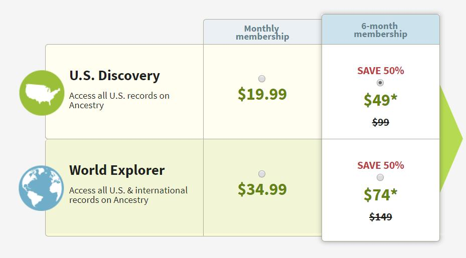 This offer is for NEW MEMBERS* only! Save 50% on the US Discovery and the World Explorer 6-month subscriptions!