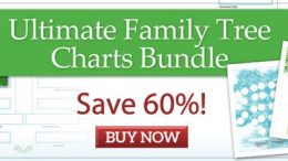 Family Tree Magazine: Save 60% on Ultimate Family TreeCharts Bundle!28 Templates — One Low Price! Are you looking for ways to beautifully display your family history? Look no further than the Ultimate Family Tree Charts Bundle! These decorative trees won't replace your working genealogy charts that cram in many generations of names and dates.Regularly $74.96 USD, now just $29.99 USD