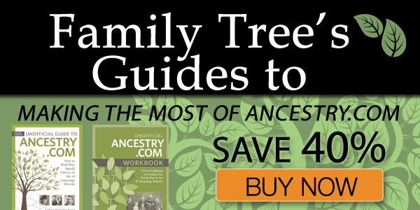 "Family Tree Magazine: Save 40% on Family Tree's Guides to Making the Most of Ancestry.com book bundle! ""Discover the secrets to Ancestry.com success and get the most out of your Ancestry.com subscription. With these two essential Ancestry.com resources, you'll discover how to take advantage of what the world's biggest genealogy website has to offer—and how to find answers to your genealogy questions within its billions of records."" Regularly $48.98 USD, now just $29.38 USD"