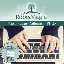RootsMagic Power-User Collection PLUS (Includes Software!): In this collection, you will get the latest version of the RootsMagic software plus four additional resources to help you use the software to its full potential.