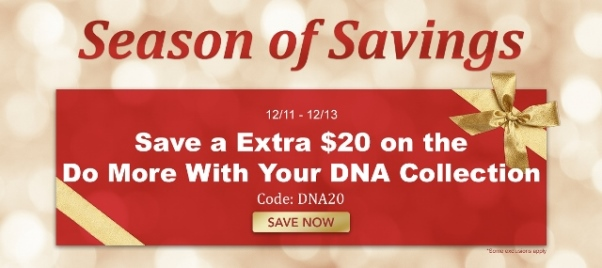 Season of Savings super special sale continues at Family Tree Magazine - save an Extra $20 on Do More With Your DNA Collection with promo code DNA
