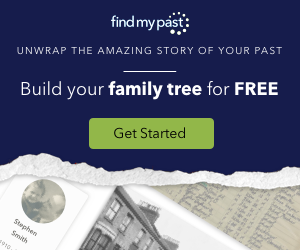 "Are you in the market for something ""different"" when it comes to building a family tree and sharing it with family? Between now and New Year's, take advantage of this amazing FREE offer from Findmypast and get started on your family history research."