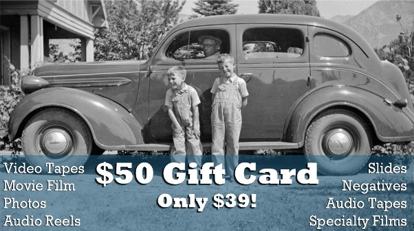 Are you or a loved one sitting on a collection of old slides, photos, movies or other media that should be digitized and preserved? Not sure how to get started on such a project? Let the folks at Larsen Digital help with their Gift Card Sale! Now through December 31st, you can purchase one or more $50 USD gift cards for just $39 USD each! - LINK