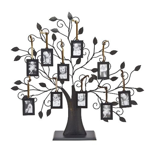 Special price on Philip Whitney Metal Family Tree Picture Frames with 10 Hanging Photo Frames - a great gift! Only $38.99 USD! Also available in 6 frame configuration and with extra frames