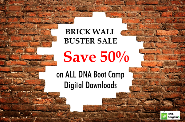 DNA Boot Camp: All DNA Boot Camp digital downloads are 50% off through Thursday, January 31st with promo code BRICKWALL!