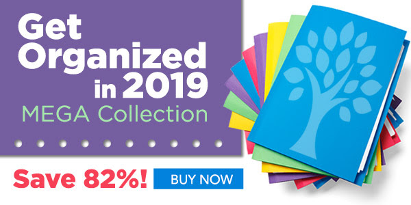 """Family Tree Magazine: Save 82% on Get Organized in 2019 MEGA Collection from Family Tree Magazine! Regularly $434.86 USD, now just $79.99 USD! """"Start Your New Year Off Right and Get Organized!14 Resources — One Unbelievably Low Price"""""""