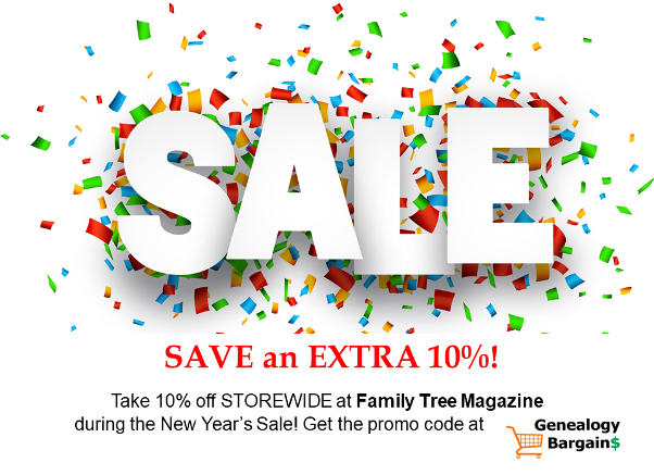 Don't miss the Family Tree Magazine New Year Sale with an additional 10% OFF STOREWIDE! Snag those genealogy books and webinars you want!