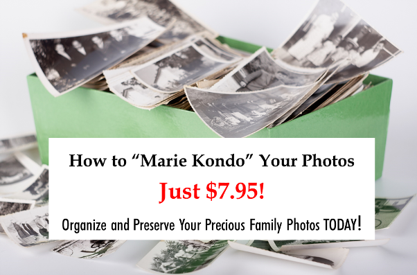"Is it time to ""Marie Kondo"" your family photos? Finally organize & preserve those memories with the Pioneer Photo Storage Box just $7.95!"