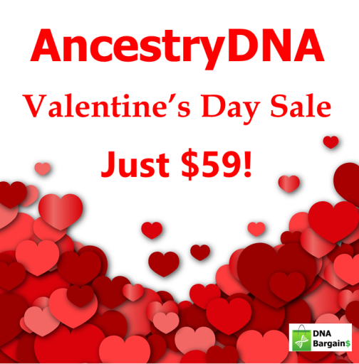 This Valentine's Day, let AncestryDNA help you discover you and your sweetheart! At the same time, you'll both be able to discover meaning, heritage, identity, belonging, connections, surprises, and culture. Right now, you can save 40% on AncestryDNA - the world's most popular DNA test! Regularly $99, you pay just $59!*