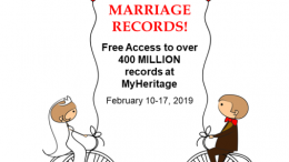 Love Is In The Air! Just in time for Valentine's Day, take advantage of FREE ACCESS to all marriage records at MyHeritage via SuperSearch™