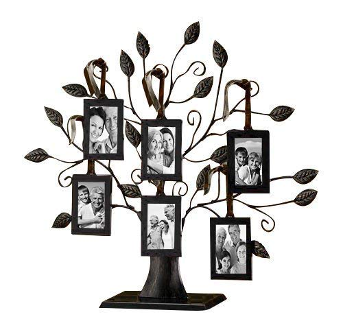 Klikel Family Tree Display with 6 Hanging Picture Photo Frames - just $19.99! If you are looking for a way to use your genealogy research and digitized family photos here is a great idea . . . a metallic family tree display from Klikel. While there are many other companies making similar products, the Klikel line are the BEST in terms of construction, durability, and design