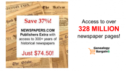 Save BIG on MyHeritage DNA just $59! Get Newspapers.com for only $74.50! See all the latest Genealogy Bargains for Friday, February 22nd, 2019
