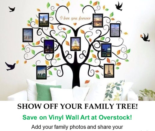 Overstock has AMAZING family tree wall decals to show off your genealogy research! Get the latest Genealogy Bargains for Friday, February 8th, 2019