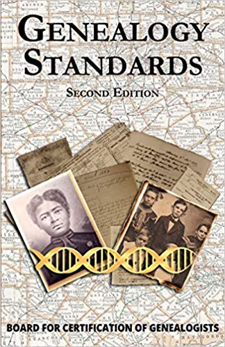 "NEW Amazon Kindle version of Genealogy Standards 2nd Ed by Board for Certification of Genealogists! ""Family historians depend upon thousands of people unknown to them. They exchange research with others; copy information from books and databases; and write libraries, societies, and government offices. At times they even hire professionals to do legwork in distant areas and trust strangers to solve important problems. But how can a researcher be assured that he or she is producing or receiving reliable results? This official manual from the Board of Certification for Genealogists provides a standard by which all genealogists can pattern their work."""