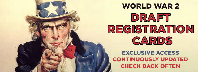 One of the newest military collections is the World War II Draft Cards and they are so clear and easy to read in color!