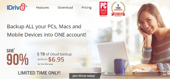 "iDrive: 90% off iDrive automatic online backup! Regularly $69.50 USD per year, you get the first year of 5TB cloud storage for just $6.95 USD! Once you've scanned all those family photos, you need to have a data backup right? This is a ""set it and forget it"" program like Carbonite but much better: you can backup your mobile devices and even Facebook images! Offer valid through Sunday, March 31st!"