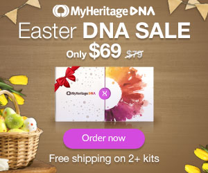 MyHeritage DNA: Save during MyHeritage DNA Easter Sale! Pay just $69 PLUS get FREE SHIPPING when you purchase two or more DNA kits! Sale valid through April 21st!
