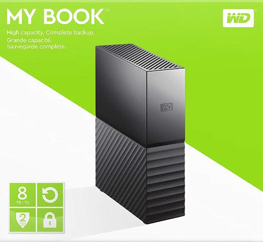 Amazon: Save 58% on Western Digital 8TB My Book Desktop External Hard Drive, USB 3.0 - regularly $299.99, now just $126.99!
