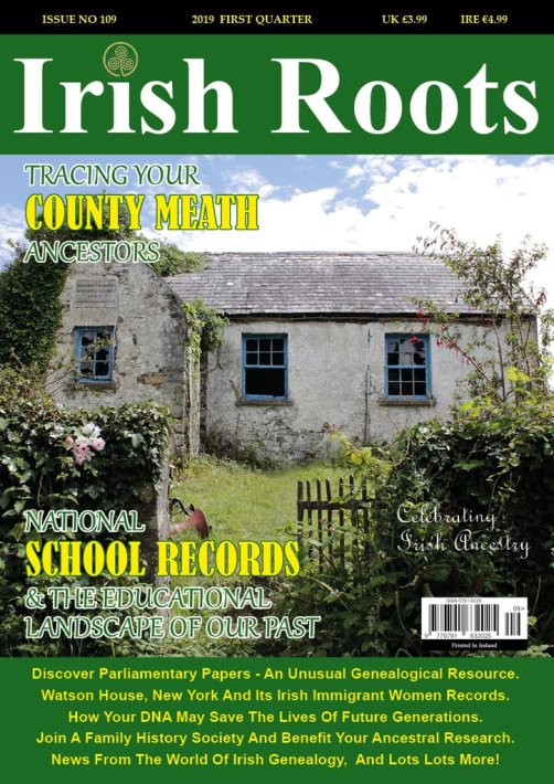 Irish Roots magazine is dedicated entirely to Irish ancestral research. Irish Roots magazine is the 'go to' publication for Irish family history research. Irish Roots magazine features in-depth articles written by leading Irish genealogists covering all aspects of Irish genealogical research. It is considered an integral part of any researcher's toolkit from the budding family history enthusiast to the more experienced genealogical researcher. Irish Roots magazine is a celebration of Irish ancestry, heritage and traditions. It is published quarterly in March, June, September and December. A yearly subscription cost $42 including postage or just $12.99 for a digital subscription.
