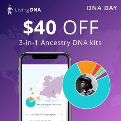 There's never been a lower online price this year for Living DNA - just $59 USD and this test is a MUST for anyone with British or Irish heritage!