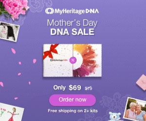 MyHeritage DNA: Save during the MyHeritage DNA Mother's Day Sale! Just $69 for each MyHeritage DNA Kit PLUS get FREE SHIPPING when you purchase two or more kits! Sale valid through Monday, May 13th.