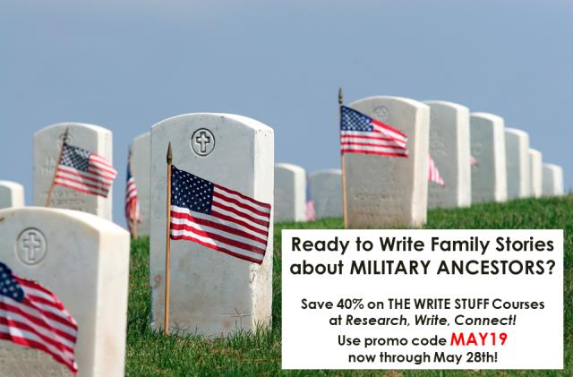 Special MEMORIAL DAY SALE: Save 40% on THE WRITE STUFF Courses at Research, Write, Connect!