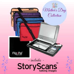Flip-Pal: Save $25 on special Mother's Day Collection at Flip-Pal mobile scanner! Bundle includes Flip-Pal mobile scanner with 4GB SD memory card and toolbox with Easy Stitch software and Story Scans, microfiber cleaning cloth, and deluxe carrying case. Regularly $214.97, now just $189.97! Includes FREE SHIPPING!