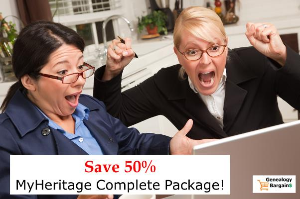 50% Off MyHeritage Complete - LIMITED TIME OFFER Through Saturday, May 25th!