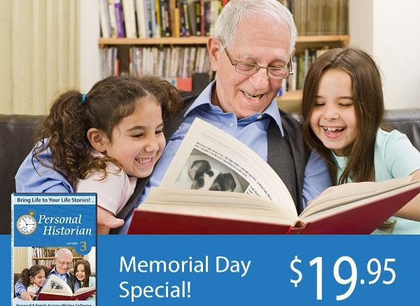 Do you have a family member who wants to write their story of military service? Personal Historian 3 makes it easy! Save 30% this Memorial Day Weekend!