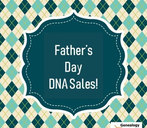 Right now through Monday, June 17th you can get a basic autosomal DNA test for genealogy research at one of the lowest prices of the year! Whether it's a gift for Father's Day or lots of tests for an upcoming family reunion, don't miss this sale!
