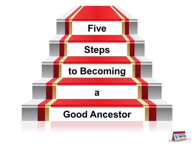 "FREE WEBINAR 5 Steps to Becoming a Good Ancestor presented by Marian Pierre-Louis, Wednesday, June 26, 2019, 2:00 pm Eastern / 1:00 pm Central / 12:00 pm Mountain / 11:00 am Pacific. ""Genealogists are very good at researching and learning about their ancestors' lives. But sometimes they forget that it is important to provide information about themselves for their own descendants. In this presentation we'll provide five ways to leave traces of yourself (and your research) for those who come after you."""