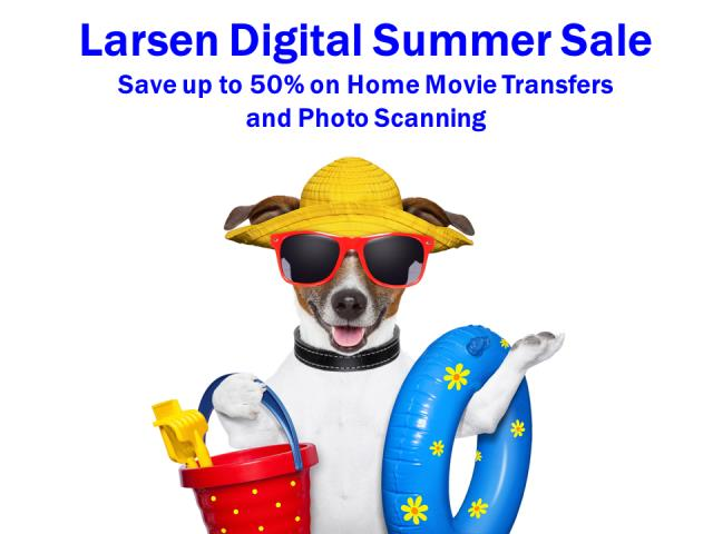 "Larsen Digital: Save up to 50% on Photo, Slide, and Film Scanning at Larsen Digital! Use promo codes  THOMAS10 or THOMAS15 along with the current sale at Larsen and get started on that scanning project! Example: Photos up to 8"" x 10"" scanned at 300 dpi . . . regularly $0.48 each, on sale for $0.30, and reduced to just $0.26 with promo code THOMAS15! Sale valid through Friday, June 7th*"