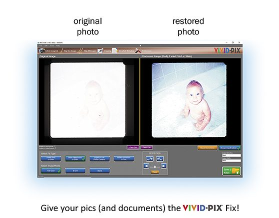 Vivid-Pix: Save 20% on Vivid-Pix RESTORE! Restore scanned prints, slides, documents, and digital camera images in seconds. You can even use Vivid-Pix RESTORE in scanned documents . . . Allen County Public Library does! UPDATE: now you can add your own METADATA to images and documents using Vivid-Pix RESTORE! Sale valid through July 15th, 2019.  Use promo code 3GBargainsSAVEBT at checkout
