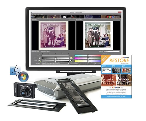 Save 20% on Vivid-Pix RESTORE to restore scanned prints, slides, documents, and digital camera images in seconds the quick, easy and affordable way!