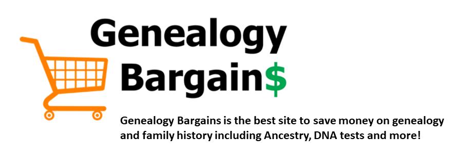Genealogy Bargains Monday September 2, 2019 -