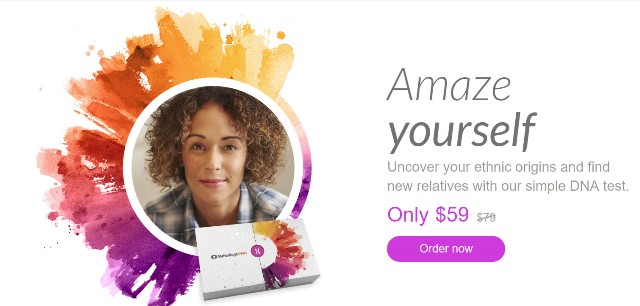 NEW! MyHeritage DNA: Save during the MyHeritage DNA Summer Sale! Get MyHeritage DNA Ancestry-Only test kit for just $59! This is the same autosomal DNA test kit as AncestryDNA and other major DNA vendors! BONUS! Get FREE SHIPPING when you purchase two (2) or more MyHeritage DNA Ancestry-Only test kits!