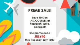 Save 40% on ALL COURSES at Research, Write, Connect with Family History Expert Lisa Alzo . . . use promo code JULY40 at checkout to claim your 40% savings!