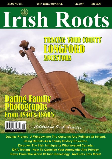 We're happy to bring you a special offer from Irish Roots magazine: a 40% savings on the new Autumn 2019 digital issue!