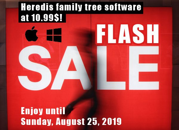 Heredis: Save up to 78% on Heredis 2019 family tree software for Windows and Mac!