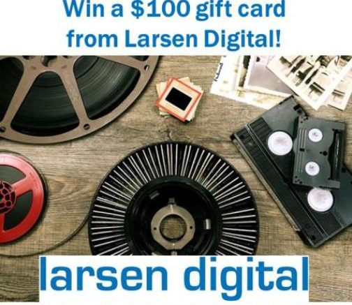 Enter the Larsen Digital $100 Gift Card Contest at Genealogy Bargains this week and you could win a $100 gift card to Larsen Digital and finally get those slides and movies digitized!