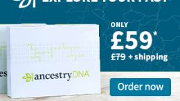 Save 25% on AncestryDNA UK during the AncestryDNA Autumn Sale! Ancestry has the world's most popular DNA test kit for just £59 now through October 6th!