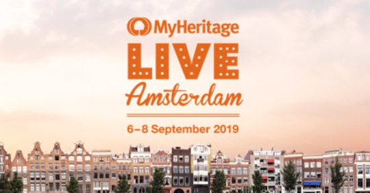 FREE LIVE Streaming of MyHeritage LIVE sessions from Amsterdam! Starting Saturday, September 7th and running through Sunday, September 8th, you can attend over 25 different webinars! Topics include DNA, genealogy research methodology and more!